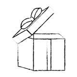 раскройте эскиз ленты подарочной коробки традиционный декоративный Стоковые Изображения