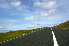 раскройте дорогу Стоковое Фото