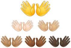 Раскройте emoji знака рук Стоковое фото RF