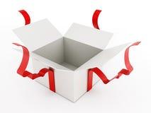 Раскройте giftbox изолированное на белой предпосылке бесплатная иллюстрация