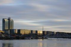 Раскройте Harborfront Амстердам Стоковое Изображение