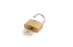 раскройте padlock Стоковая Фотография RF