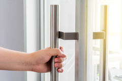 Раскрывать дверь и предпосылку Стоковые Изображения RF