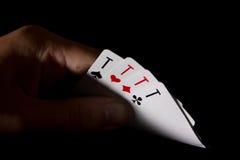 Раскрыл его тузы руки 4 Стоковая Фотография RF
