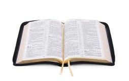 Раскрытая книга библии Стоковая Фотография