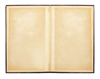 раскрытая книга старая бумажная текстура Стоковые Фотографии RF