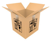раскрытая коробка Стоковая Фотография