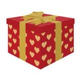Раскрытая подарочная коробка, концепция сюрприза Подарок к жениху и невеста для свадьбы от гостей и любимых боксера бесплатная иллюстрация
