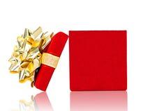 Раскрытая подарочная коробка для любого случая на белизне Стоковые Изображения