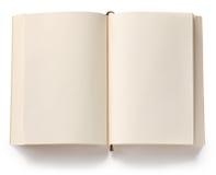Раскрытая пустая книга в мягкой обложке Стоковые Фото
