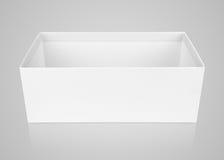 Раскрытая пустая коробка ботинка на сером цвете Стоковое Фото