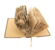 Раскрытая старая загадочная книга Стоковое фото RF