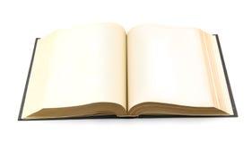 раскрытая старая книги Стоковая Фотография