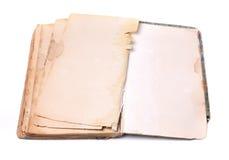 раскрытая старая книги Стоковое фото RF