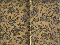 Раскрытая старая старая обложка книги золота Стоковое фото RF