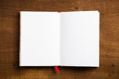 раскрытая тетрадь Стоковые Изображения RF