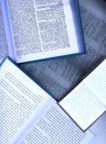 раскрытые книги Стоковые Изображения RF