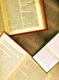 раскрытые книги Стоковое Изображение RF