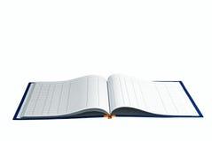 раскрытые линии книги Стоковое Изображение RF