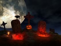 Раскрытые могилы Стоковые Фото