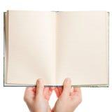 раскрытые руки книги Стоковая Фотография