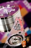 Раскрытый жесткий диск компьютера Стоковые Фото