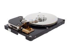 Раскрытый жесткий диск компьютера стоковые изображения