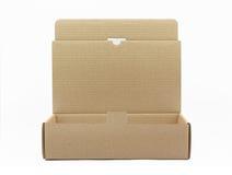 раскрытый картон коробки коричневый Стоковые Изображения