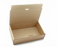 раскрытый картон коробки коричневый Стоковая Фотография RF