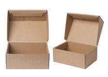раскрытый картон коробки Стоковые Изображения