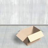 раскрытый картон коробки Стоковая Фотография