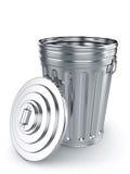 Раскрытый мусорный бак Стоковое Изображение RF