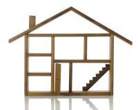 Раскрытый дом, раскрытая дверь Стоковое Изображение RF