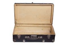 Раскрытый ретро чемодан Стоковые Изображения