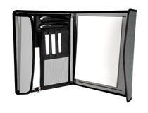 раскрытый серый цвет портфеля Стоковые Изображения RF