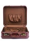 раскрытый чемодан стоковое изображение