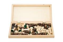 раскрытый шахмат доски Стоковая Фотография RF