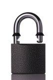 раскрытый padlock обеспеченный Стоковые Изображения