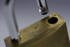 Раскрытый padlock Стоковая Фотография