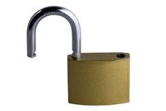 раскрытый padlock Стоковые Изображения RF