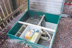 Раскрыл канализационный резервуар для того чтобы проверить свою функциональность Стоковые Фото