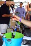 Раскупориванное празднество вина Стоковые Изображения