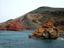 Расмирите побережье Лансароте Стоковое Изображение RF