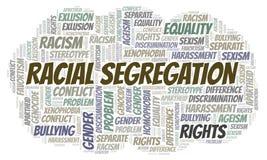 Расовая сегрегация - тип дискриминации - облако слова иллюстрация штока