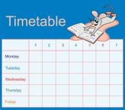 расписание мышей Стоковое Изображение