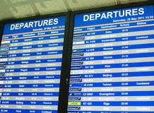 расписание полета Стоковые Фото