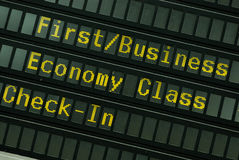 расписание полетов Стоковая Фотография RF