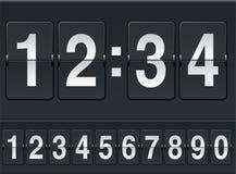 расписание чисел Стоковое Изображение RF