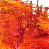 расплавленные crayons искусства Стоковое Фото