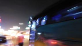 Расплывчатая быстрая жизнь города Стоковые Изображения RF
